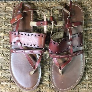 Mossimo Brown sandals worn once
